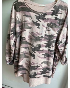 Lulu   Pink Camouflage Sweat Top