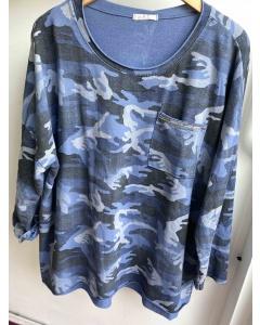 Lulu   Blue Camouflage Sweat Top