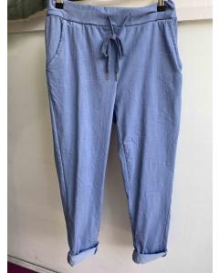 Lulu   Blue Casual Trousers