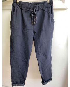 Lulu   Navy Casual Trousers