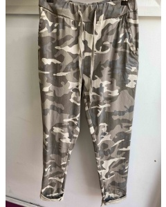 Lulu | Taupe Camouflage Trousers