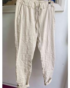 Lulu    Cream Casual Trousers