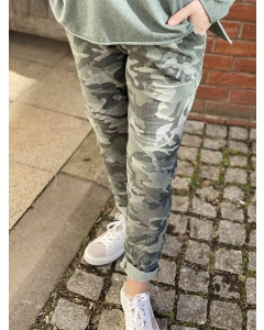 Lulu   Khaki Camouflage Trousers